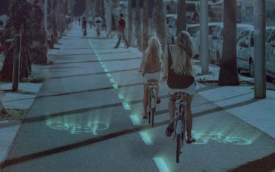 El 1° pavimento de hormigón con tecnología fotoluminiscente